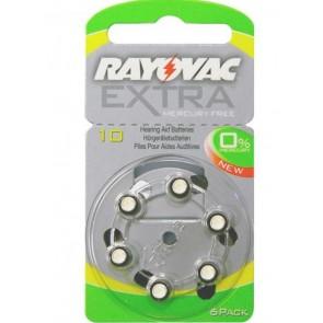 RAYOVAC μπαταρίες ακουστικών βαρηκοΐας 10MF, mercury free, 1.45V, 6τμχ