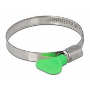 DELOCK σφιγκτήρας λαστιχοσωλήνα με πεταλούδα 50-70mm, πράσινος, 10τμχ