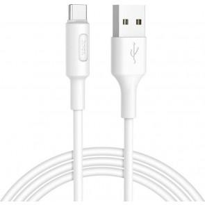 Hoco Regular USB 2.0 Cable USB-C male - USB-A male Λευκό 1m (X25 Soarer)