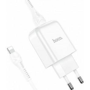 Hoco Lightning Cable & USB-A Wall Adapter Λευκό (N2 Vigour)