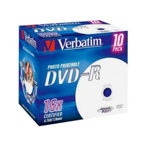 DVD ROH-R  4.7GB/ 16x  Verbatim  printable (Jewel)