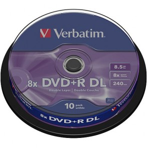 DVD ROH+R  8.5GB/ 8x DL  Verbatim (10er Cakebox