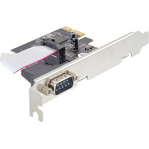 IO DeLock PCIe  1x seriell RS-232 inkl. LP-Blech