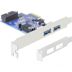 IO Delock PCIe 2+1 Port USB 3.0 inkl. Low-Profile