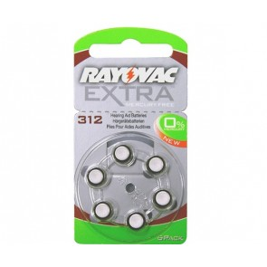 Rayovac extra mercury free μπαταρίες ακουστικών βαρηκοϊας 1,45V, 6τεμ.
