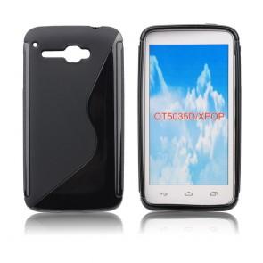 """Back Case S-line - ALC One Touch X""""Pop (5035D) black"""