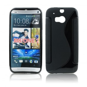 Back Case S-line - HTC One (M8) black