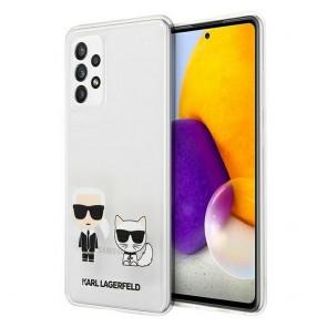 Original faceplate case KARL LAGERFELD KLHCA72CKTR for Samsung A72 4G/ A72 5G transparent