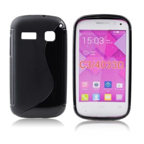 Back Case S-line -  ALC One Touch C3 (4033D) - black