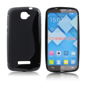 Back Case S-line - ALC One Touch C7 (7041D)- black