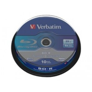 BD-R Verbatim 25 GB /1-6x Cakebox(10er)