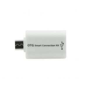 Adapter microUSB / OTG white