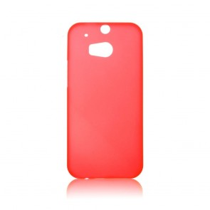 Hard Case  0,5mm -HTC ONE (M8) red