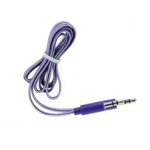 AUX CABLE JACK STEREO 3.5mm purple 1m