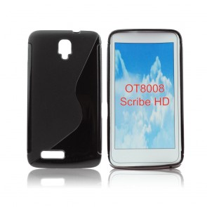 Back Case S-line - ALC One Touch Scribe HD (8008) black