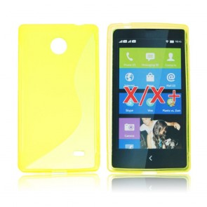Back Case S-line - Nok X yellow