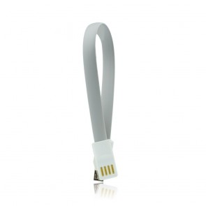 USB Cable with magnet  - micro USB universal 20 cm grey