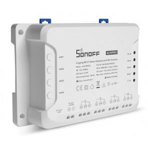 SONOFF Smart Διακόπτης 4CH PRO R3, 4 θέσεων, 40A, RF control, λευκός