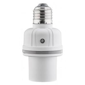 GOOBAY αντάπτορας λάμπας Ε27 55500, με αισθητήρα ήχου & φωτός, λευκός