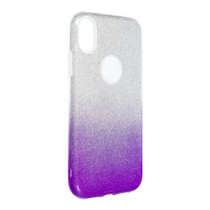 """Forcell SHINING Case for IPHONE XR ( 6,1"""" ) clear/violet"""