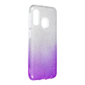 Forcell SHINING Case for SAMSUNG Galaxy A20E clear/violet
