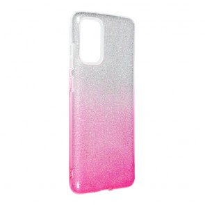 Forcell SHINING Case for SAMSUNG Galaxy S20 Plus / S11 clear/pink
