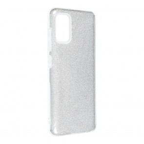 Forcell SHINING Case for SAMSUNG Galaxy A41 silver