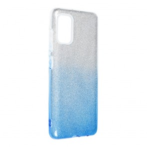 Forcell SHINING Case for SAMSUNG Galaxy A41 clear/blue