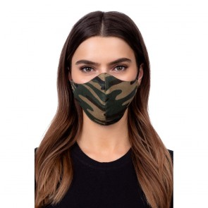 Profiled face mask - green camo
