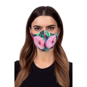 Profiled face mask - flower lotos