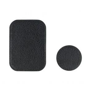 Badget for magnet car holder leather black