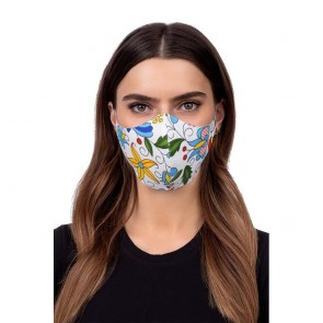 Profiled face mask - folklore 2 white
