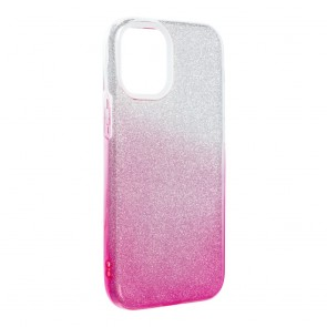 Forcell SHINING Case for IPHONE 12 MINI clear/pink