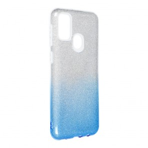 Forcell SHINING Case for SAMSUNG Galaxy M21 clear/blue
