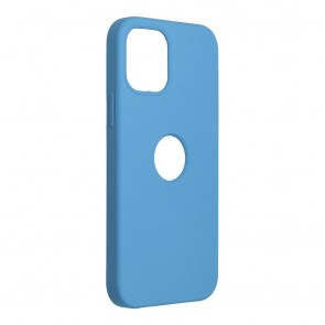 Forcell Silicone Case for IPHONE 12 / 12 PRO dark blue (with hole)