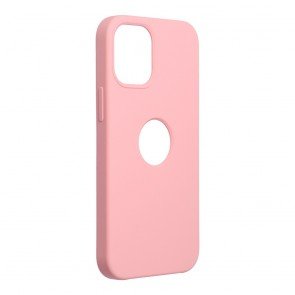 Forcell Silicone Case for IPHONE 12 MINI pink (with hole)