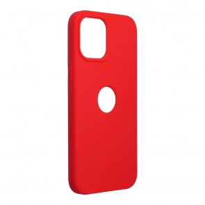 Forcell Silicone Case for IPHONE 12 PRO MAX red (with hole)