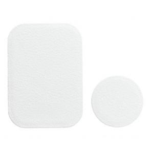 Badget for magnet car holder leather white