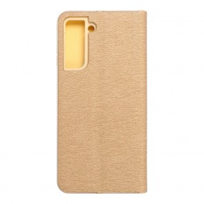 Forcell LUNA Book Gold for SAMSUNG Galaxy S21 gold