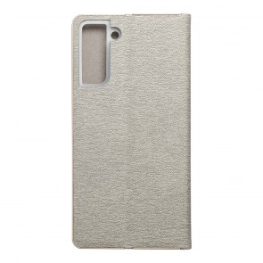 Forcell LUNA Book Gold for SAMSUNG Galaxy S21 Plus silver