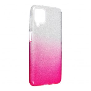 Forcell SHINING Case for SAMSUNG Galaxy A12 clear/pink