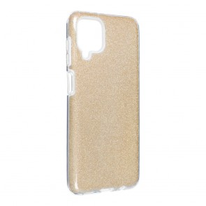 Forcell SHINING Case for SAMSUNG Galaxy A12 gold