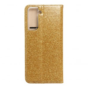 Forcell SHINING Book for  SAMSUNG S21 gold