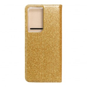 Forcell SHINING Book for  SAMSUNG S21 Ultra gold
