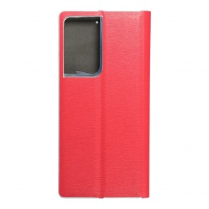 Luna Book Silver for  SAMSUNG S21 Ultra red