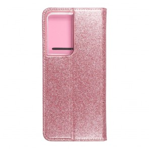 Forcell SHINING Book for  SAMSUNG S21 Ultra rose gold
