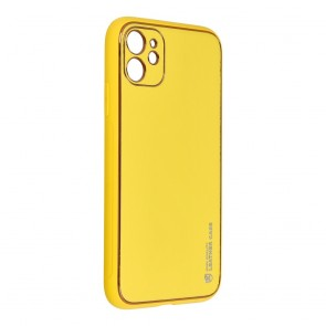 """Forcell LEATHER Case for IPHONE 11 ( 6,1"""" ) yellow"""