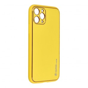"""Forcell LEATHER Case for IPHONE 11 PRO ( 5,8"""" ) yellow"""