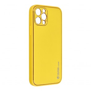 Forcell LEATHER Case for IPHONE 12 PRO yellow