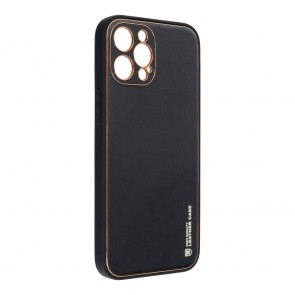 Forcell LEATHER Case for IPHONE 12 PRO MAX black